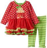 Nannette Baby Girl Gingerbread Tutu Dress & Leggings Set