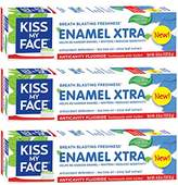 Kiss My Face Signature Bundles Extra Gel Toothpaste & Enamel, 3 Count