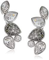 Judith Jack Swarovski Marcasite Crawler Stud Earrings