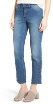 NYDJ Women's Ira Embroidered Relaxed Ankle Jeans