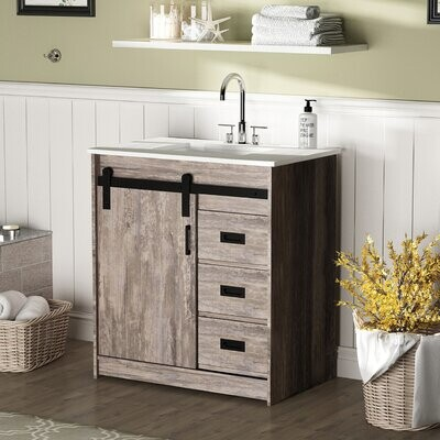 Farmhouse Sink The World S, Clemmie 61 Double Bathroom Vanity Set With Linen Tower