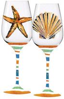 Coastal Brush Wine Glass Set