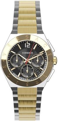 Versace Landmark Round Two-Tone Stainless Steel Chronograph Watch