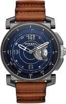 Diesel Men's Dark Brown Leather Strap Hybrid Smart Watch 47mm DZT1003