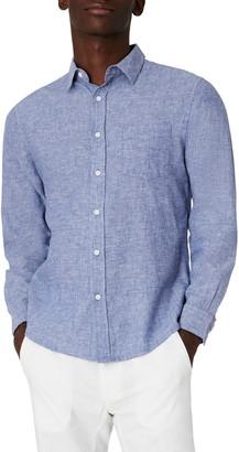 Onia Abe Linen Blend Button-Up Shirt
