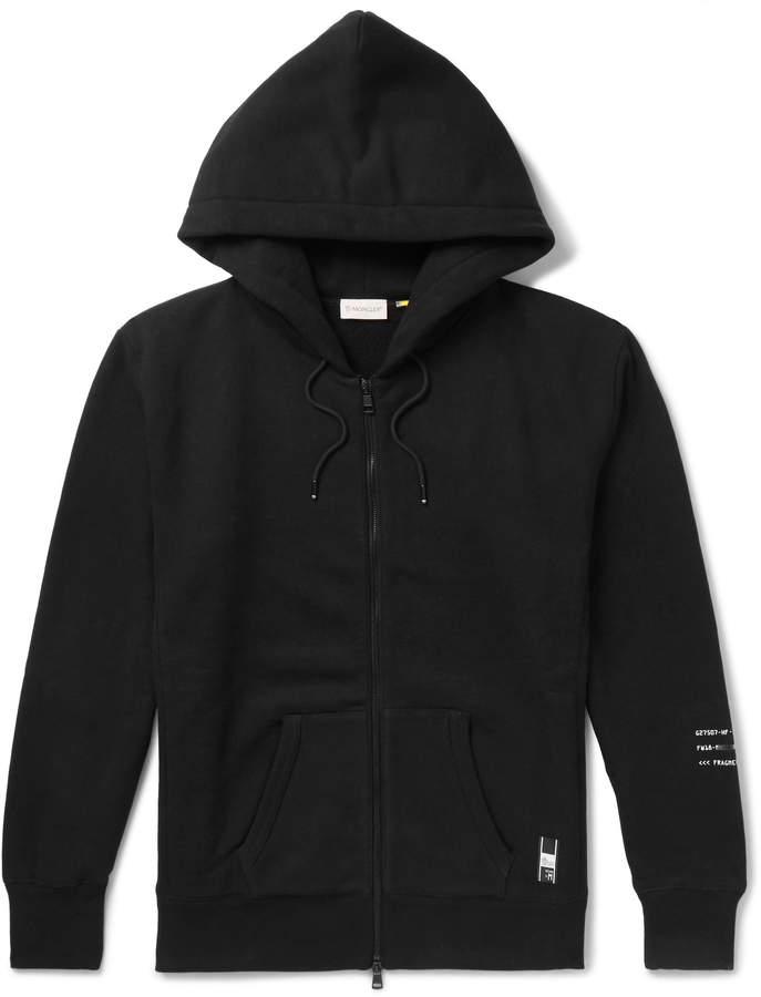 Moncler Genius - 7 Fragment Shell-Panelled Loopback Cotton-Jersey Zip-Up Hoodie - Men - Black