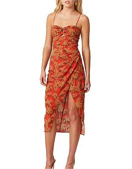 Bec & Bridge Bec + Bridge Shady Palm Midi Dress