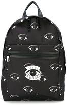 Kenzo Eyes backpack - men - Calf Leather/Nylon - One Size