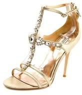 Badgley Mischka Giovana Ii Women Open Toe Leather Sandals.