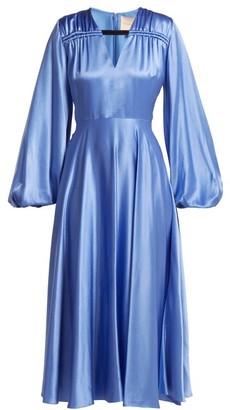 Roksanda Houma Silk Dress - Womens - Blue