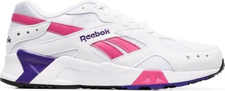 Reebok white Aztrek faux leather low top sneakers