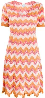 M Missoni Zigzag-Pattern Knitted Dress