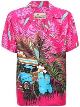 Low Rider Pink Printed Hawaiian Shirt