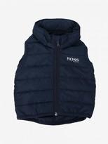 HUGO BOSS Waistcoat Down Jacket With Removable Hood