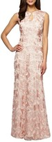 Alex Evenings Petite Women's Mesh Gown