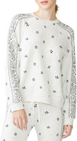 Monrow Allover Bandana Printed Long-Sleeve T-Shirt