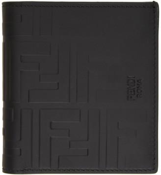 Fendi Black Forever Embossed Wallet