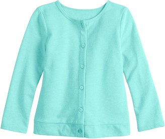 Baby Girl Jumping Beans Button-Up Knit Cardigan