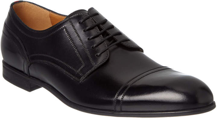 Gucci Web Leather Lace-Up Oxford