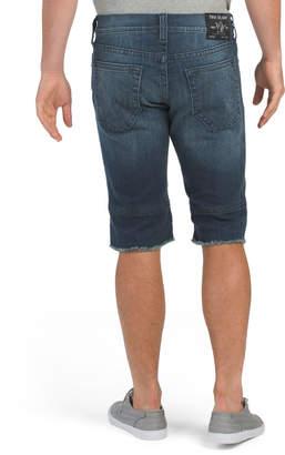 Ricky Moto No Flap Frayed Hem Shorts