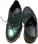 Non Signã© / Unsigned Non SignA / Unsigned Green Leather Flats