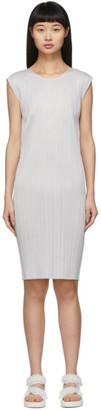 Pleats Please Issey Miyake Grey Basics Pleats Short Dress