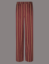 Autograph Striped Wide Leg Trousers