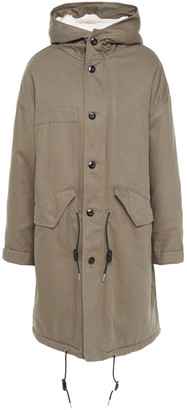 IRO Marea Faux Shearling-lined Cotton-twill Hooded Parka