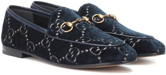 Gucci Jordaan GG velvet loafers