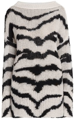 Stella McCartney Intarsia Tiger Wool & Alpaca-Blend Sweater