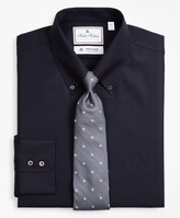 Brooks Brothers Luxury Collection Milano Slim-Fit Dress Shirt, Button-Down Collar Dobby Links