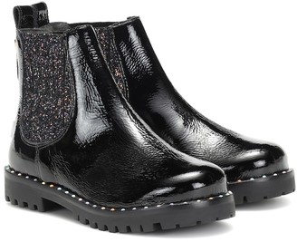 Sophia Webster Mini Lara patent leather Chelsea boots