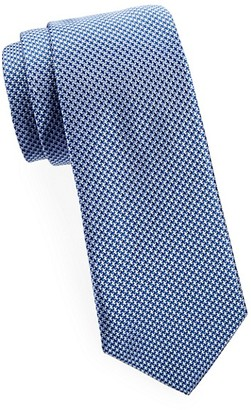 Saks Fifth Avenue Made In Italy Houndstooth Silk Tie