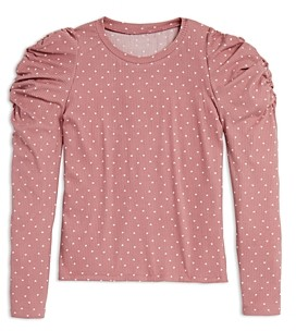 Aqua Girls' Puffed Sleeve Top, Big Kid - 100% Exclusive