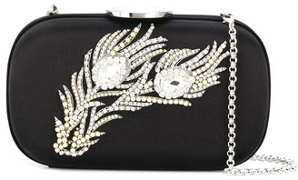 Giambattista Valli Feather embellished clutch bag