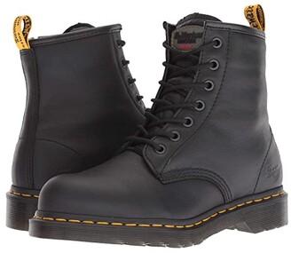 Dr. Martens Work Maple Steel Toe Zip (Black Newark) Women's Work Boots