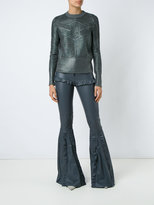 Andrea Bogosian - wide leg trousers - women - Leather/Spandex/Elastane/Polyimide - M