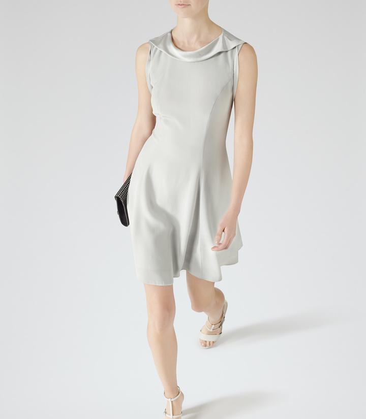 Montgomery FLUTED FOLD NECK DRESS
