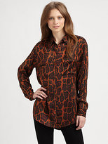 Equipment Wild Leopard-Print Silk Shirt