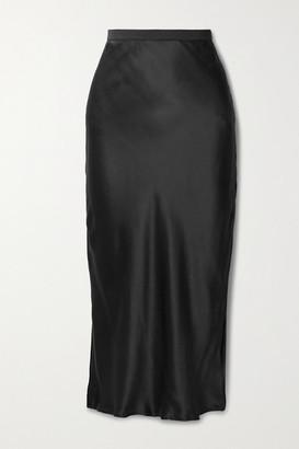 CAMI NYC The Jessica Silk-charmeuse Midi Skirt - Black