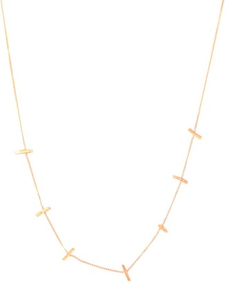 Lily Flo Jewellery Stardust Star Crossed Lovers Demi Necklace In Solid Rose Gold