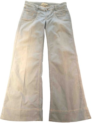 Bel Air Blue Cotton - elasthane Jeans for Women