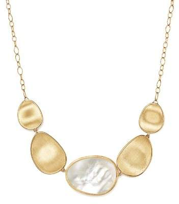 Marco Bicego 18K Yellow Gold Lunaria Mother-of-Pearl Collar Necklace, 17""