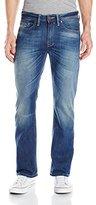 Buffalo David Bitton Men's King Slim Boot Cut Jean In Pioneer Silicate Fabric