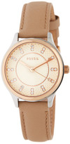 Fossil Women's Modern Sophisticate Crystal Accented Leather Strap Watch