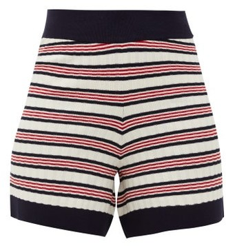 ODYSSEE Liberte Striped Knitted Shorts - Red Stripe