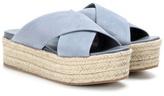 Miu Miu Suede Platform Espadrille-style Platform Sandals