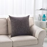 MochoHome Cotton/Linen Blend Solid Square Throw Pillow, Decorative Toss Pillow