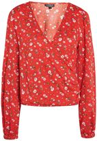 Topshop TALL Crinkle Floral Blouson