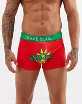 Brave Soul Christmas cracker boxers-Red